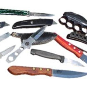 B. edged weapons